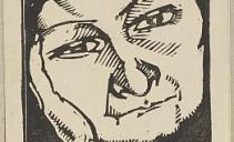 В.Э.Вильковиская. Портрет матери. 1922. Бумага, линогравюра. Из собрания ГМИИ РТ
