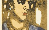 В.Э.Вильковиская. Еврейка. Лист из графического альманах «Всадник» № 3,1922. Бумага, цветная линогравюра. Из собрания ГМИИ РТ