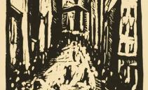 Плещинский И.Н., Город. 1920. Бумага, линогравюра. Из собрания ГМИИ РТ